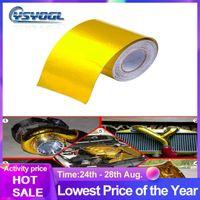 Gold Heat Wrap Выхлопной лента Тепловой Впускная Изоляция Щит Светоотражающий Тепловой барьер самоклеющийся двигатель 2 дюйм 5/9 / 10M