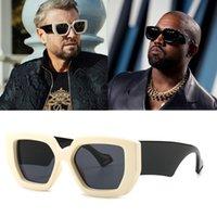 2020 جديد مصمم أزياء المتضخم مضلع نظارات شمسية رجالية خمر درع يبرد الوظائف النساء نظارات شمسية UV400
