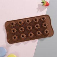 Gelatina muffa del cioccolato del silicone DIY antiaderente in silicone e muffa della caramella Cuore rotonda Star Design Chocolate Mold