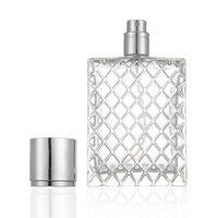 100ml Şeffaf Cam Şişe Izgara Desginer Boş Parfüm Şişeleri Parfüm Atomizer Doldurulabilir Parfüm Şişesi Sprey
