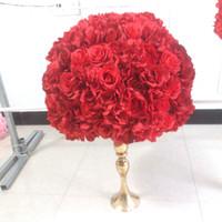 SPR Бесплатная доставка-2pcs / серия свадебный стол центральная 50см диам. цветок мяча украшение искусственного Flowe дорожного свинцового цветка