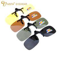 Солнцезащитные очки IVSta Качество Поляризованный клип на мужчин Вождение ночного видения анти УФА Солнцезащитные очки Женщины Oculos Gafas de Sol