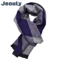 Scarves 2021 Style In Europe And The Fall Winter To Keep Warm Diamond Lattice Double-sided Tassel Woven Scarf