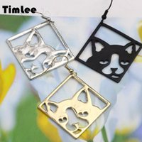 Timlee E255 Free shipping, New Stereoscopic Design Personality Square Cat Head Drop Earrings,Fashion Jewelry Wholesale