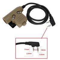 Nueva versión del color de la arena U94 PTT HEADSE accesorios walkie-talkie u94ptt adecuado para la caza de auriculares tácticos