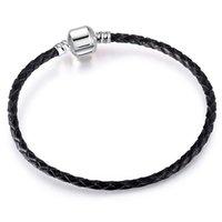 Couqcy style populaire Argent Antique couleur snap fermoir serpent chaîne Charm Fit Femmes Bracelet Hommes Bracelet bricolage européens Origina Perles