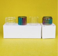 Geekvape Zeus X Mesh 4.5ml RTA Borsa RTA Lampadina normale Clear Rainbow Glass Tube Sostituzione 1pc / 3pcs / 10pcs Box Pacchetto