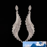 Long Fund Irregular Will Rhinestone Will Earrings Eardrop Ex...