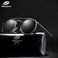 Sonnenbrille Diguyao Luxus Frauen Männer Runde Polarisierte Sonnenbrille Legierung Zwillingsstrahl Retro Weibliche Farbtöne Oculos Feminino