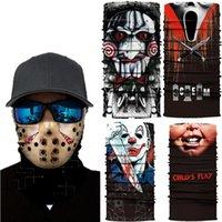 5 setyles Pesadilla en Elm Street cara máscara de ciclo al aire mágico pañuelo babero 3D bufanda de seda sin fisuras Imprimir máscara facial protectora HHC1431