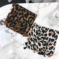 2020 Dot leopardo de mujer de marca de moda de la borla de la bufanda del mantón de viscosa Impresión suave Wrap s sjaal musulmán Hijab redecilla 180 * 100cm