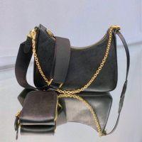 Borsa in pelle hobo del messaggero del sacchetto di spalla delle donne tre-in-uno delle ascelle del cuoio della borsa della catena sacchetto di modo del sacchetto della signora della catena hobo Walle