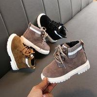 Осень Зима ребёнка Мальчики Boots малыши Boots Ребенок Мартин сапоги Мягкие дно Покрытие Дети Открытая Повседневная обувь LJ200911