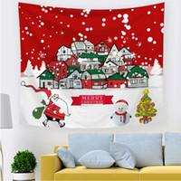 Wandteppiche Weihnachten hängende Wand Mandala Böhmische Tapisserie Dicke Flanell Landschaft Tapete Kunst Schal Wurf