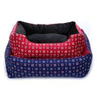Kennels Kalemler Boyutu S-XL Pet Kedi Köpek Yatak Sıcak Rahat Köpekler Kennel Yumuşak 3DPP Pamuk Sepetleri Sonbahar Kış Mat Evcil Puppy Uyku Evi Için