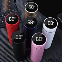 Intelligente Edelstahl-Vakuumflasche Tasse Drinkware Temperaturanzeige Flaschen Reisen Auto Suppe Kaffeetasse Wasserflaschen