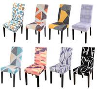 Sedia Covers Geometrica Matrimonio Stretch Spandex Stretch Stretch Banchetto Slipcover Cover Party Decor Room Seat