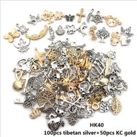 150pcs Vintage Jewelry Accessory Charms Mix KC Gold and Tibe...