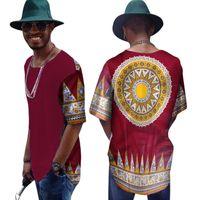 Летняя рубашка с коротким рукавом мужчины Slim Fit бренд одежда африканская печать Дасики мужские рубашки повседневная мужская африканская одежда BRW WYN315