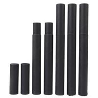 kalem Joss Çubuk Kullanışlı Taşıma 20.7x2.1cm LX2411 için Siyah Kraft Kağıt Tütsü Tüp Tütsü Namlu Küçük Saklama Kutusu