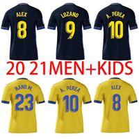 Cádiz Soccer Jerseys Cádiz CF Camisetas de Fútbol 2021 Lozano Alex Bodiger Juan Cala Camiseta A Liga Hombres + Kit Kit Kit Factory Shirts