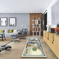 One Hundred Dollar 100 Bill Print Non- Slip Area Rug Modern H...