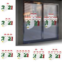 2020 크리스마스 스티커 장식 검역 가족 스티커 포스터 파티 벽 창 홈 장식 호의 키즈 선물 만화 장난감 F91207