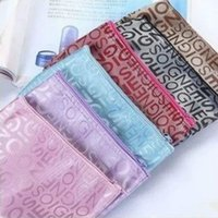 Travel portable Pouches Leisure bags letters jacquard make- u...