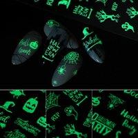 Art Nail Sticker fluorescent Noël Halloween lumineux autocollant nail autocollants Halloween drôle Party lumineux Nail Sticker