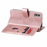Custodie da portafoglio flip slim per iPhone XR 6.1inch Porta carte in pelle PU Chiusura magnetica Chiusura magnetica Kingstand Cash Pocket Cover Forephone 11 Pro max 7 8P
