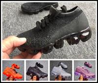 أعلى جودة 2020 العلامة التجارية الأطفال صبي فتاة عداء عارضة أحذية الفتيان الفتيات المدربين متماسكة حذاء سادة أحذية الأطفال الحجم: 24- vapor air max airmax vapors vapormax 35