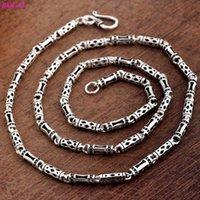 BOCAI S925 collar de plata de cadena de plata de moda retro de la cadena tailandesa para los hombres y las mujeres 2020 nueva