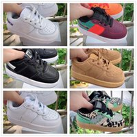 nike air force 1 af1 Cheap Kids Classic 1 Designer Shoes High Cut Fibbia Cinturino bambini Calzature di pelle Chassures Un Enfant scarpe da basket Formatori Eur22-35