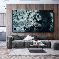 Moderno de la pared lona de arte de la pintura abstracta Joker Poster Retrato y Fotos Prints pared para sala de estar Cuadros decoración del hogar