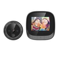 Дверные звонки 2,4 дюйма Peephole Viewer Door Bell Bell Dangy Standby Видеомофон Безопасность Камера Ночное видение HD