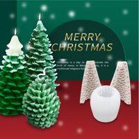شجرة عيد الميلاد سيليكون قالب ثلاثي الأبعاد DIY رائحة شمعة الخبز العفن موس تزيين الكيك قالب خبز أداة مطبخ