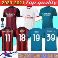 20 21 AC Milan futbol forması 2020 2021 IBRAHIMOVIC Piatek futbol forması Paquetá BENNACER Rebic camisa de futebol maillot de ayak erkekler + çocuklar