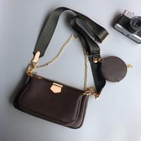 Bolsas de ombro L 48three-pedaço bolsa de moda clássico pequenos e estilo de zíper leve com pequeno saco de suspensão pode ser oblíquo