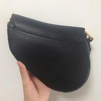 숙녀 핸드백 편지 하나 어깨 가방 고품질 가죽 대각선 안장 검은 패션 여자 지갑
