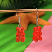 Trendy Cute Mini Gummy Candy Color Bear Earrings Minimalism ...