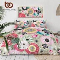 Rose BeddingOutlet Floral Literie Résumé Consolateur Art Cover Fleurs colorés Accueil Textiles Girly Linge de lit Queen-3pcs