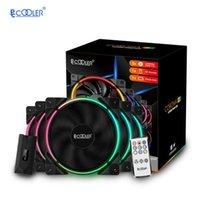 İşlemci soğutucunun sıvı soğutma, çok sayıda aydınlatma modları için PCCOOLER 5pcs LED12cm bilgisayar soğutma fanı 12V 5V 4pinRGB sessiz fan