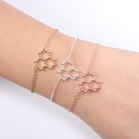 Charm Bracelets Hydro Water H2O Molecule Structure Bracelet Science Chemistry Hormone Dopamine Molecular Bangles