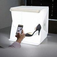 صغيرة قابلة للطي صندوق الصور التصوير استوديو الصور الفوتوغرافي Softbox LED ضوء مربع لينة خلفية الصور كيت صندوق الضوء لكاميرا DSLR