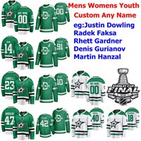 2020 Stanley Cup Final Dallas Stars Hockey Jersey Jason Dickinson Justin Dowling Radek Faksa Rhett Gardner Denis Gurianov personalizzato cucito