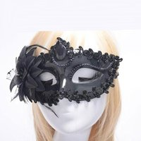 Halloween Dance Half - Face Venice Princess Masquerade Party Lady Lace Mask Side Feather Mask Party Princess Mask Nightcl