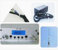1.5 / 15W trasmettitore FM trasmissione 15 watt stazione radio FM attrezzature 87-108mhz per unità in unità cinema in chiesa