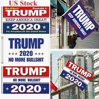 US Stock 2020 Election Trump Flags 90*150cm Polyester Printed Trump Flag Keep America Great Again President Campaign Banner DHL Shipping