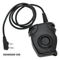 adaptador militar tático Baofeng walkie-talkie PELTOR PTT é adequado para sordin, fone de ouvido tiro de redução de ruído ComTac