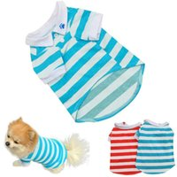 2016 새로운 도착 강아지 애완 동물 개 의류 패션 스트라이프 Roupas 파라 Cachorros 작은 개 조끼 T 셔츠 드롭 shippingWholesale